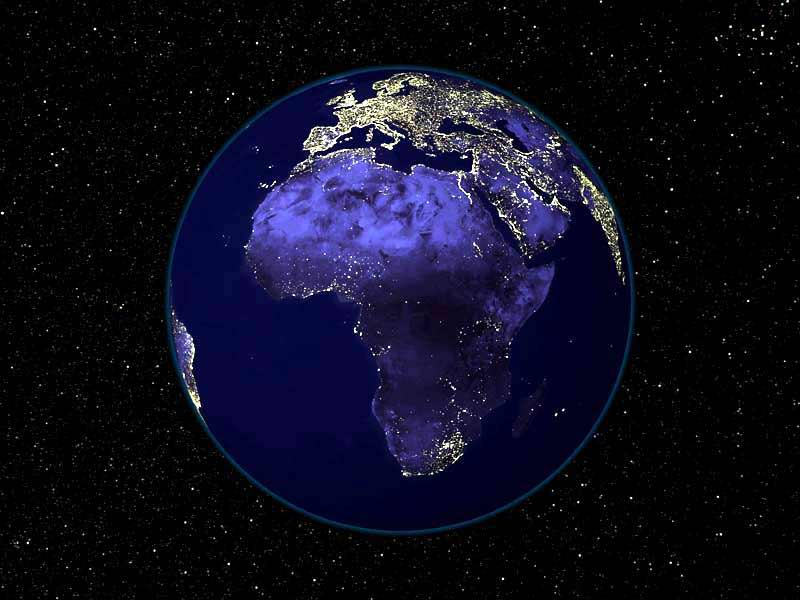 Africa by night
