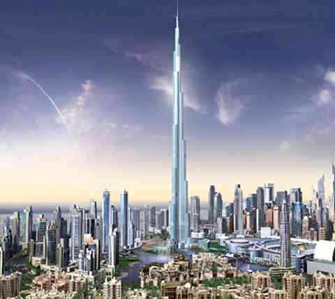 أطول منبى في العالم Burj_dubai_uae
